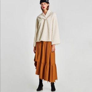 Brand New Zara Asymmetric Long Skirt Size Large